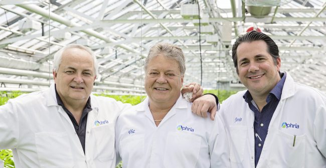 Aphria Co-founders Cole, Vic and John