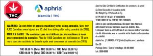 New Aphria medical product labels